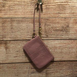 Coach Lilac Leather Wristlet - Rare Color!
